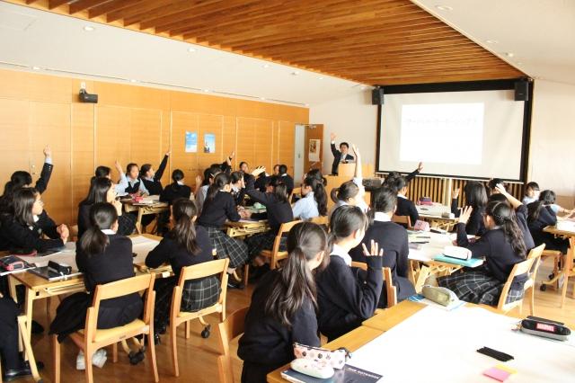 横浜女学院中学校 様にてサーバントリーダーシップの授業を実施