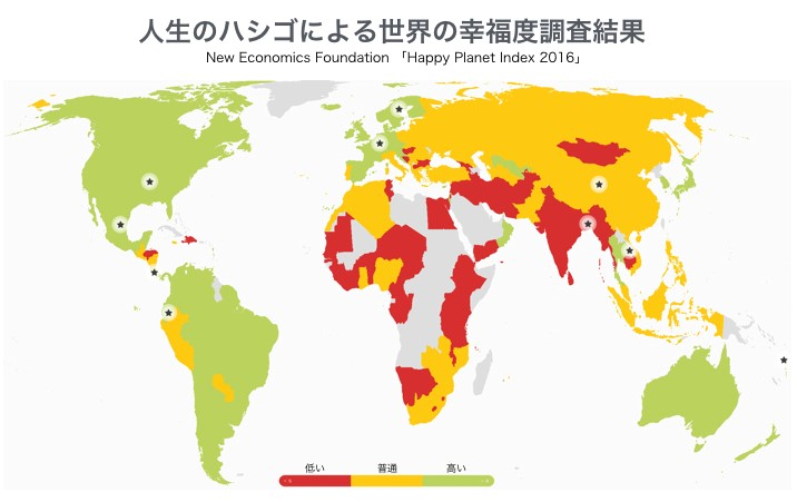 図2_人生のハシゴによる世界の幸福度調査結果